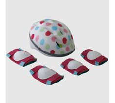 Buy Challenge Kids Safety Set - Polka Dot at Argos. Thousands of products for same day delivery or fast store collection. Bike Parts, Child Safety, Argos, Things To Buy, Helmet, Polka Dots, Challenges, Accessories, Hockey Helmet