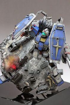 GUNDAM GUY: HGUC 1/144 RGM-79 GM [Thunderbolt Ver.] - Diorama Build