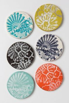 These coasters have a total summer vibe. - Affordable Summer Decor 2013