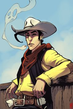 Well come Lucky luke games in [link] on nexr monday. Lucky Luke by LordMishkin Coloriage Lucky Luke, Cartoon Pics, Cartoon Characters, U2 Poster, Game Character, Character Design, Comics Illustration, Cartoon Illustrations, Bd Art