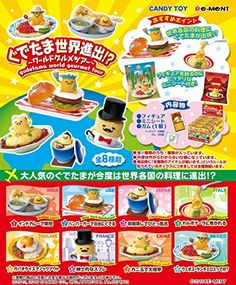 0ce00a81d7b Gudetama World Gourmet tour Mini Figure 8 Set Box Japan Re-ment Sanrio F S