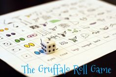 The Gruffalo Roll Game with free printable