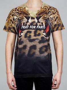 Image of Pray for Paris 'Leopard' T-shirt