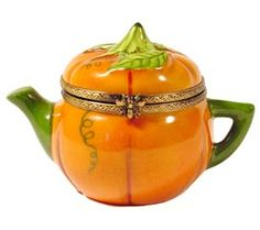 Halloween Pumpkin Teapot Limoges Box