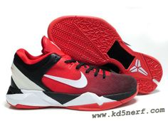 081ae14b5937 Nike Zoom Kobe 7 Shoes Red Black White Nike Shoes