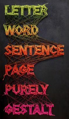 Letter Word Sentence Page Purely Gestalt by Matthew Lew, via Behance #handmade #design #typography