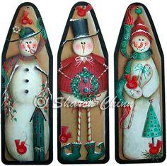 3 Funky Snowmen by Sharon Chinn