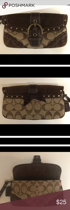 COACH WRISTLET NEVER USED, I PURCHASED ON POSH FOR MY DAUGHTER, BUT SHE HAD ALREADY BOUGHT A WRISTLET... EXCELLENT CONDITION! Coach Bags Clutches & Wristlets