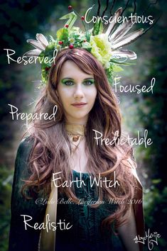 Earth Witch... Not sure I'm predictable though?? Or realistic for that matter!!!!