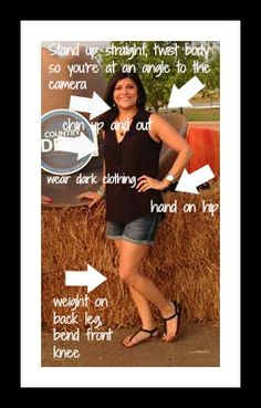 If you're like me, you're always searching for ways to look your thinnest in photos. Below are some helpful tips for posing that will help you look your slimmest. Sit up or Stand up straight. Avoi...