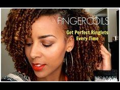 Natural Hair | Fingercoils Tutorial #naturalhair