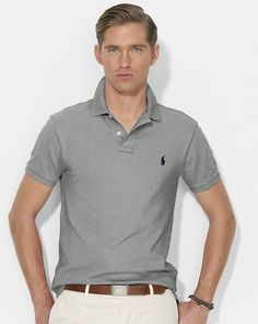 Polo Ralph Lauren - Slim-Fit Mesh Polo Shirt - 700 kr. - http