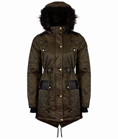 SAMANTHA'S NEW LADIES BELTED ZIP PADDED COAT QUILTED WOMENS WARM ...