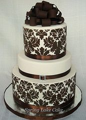 Brown Damask Cake