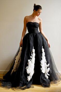 Black wedding dress? Kinda digging it.
