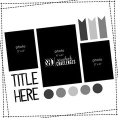 Scrapbook Challenges Sketch 371