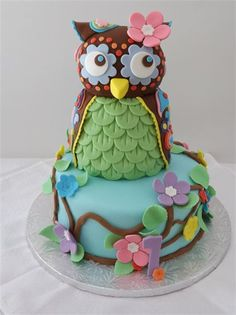 owl birthday cake~~~~wish I could bake :(