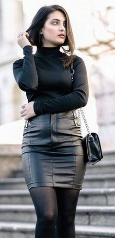 all-black leather style