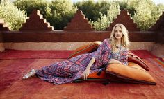 Fashion shooting Marrakech Poppy Delevingne for Monsoon Photographer: Emma Summerton