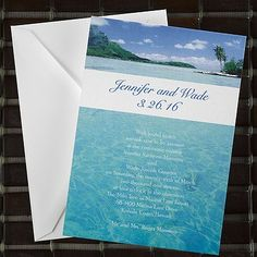 Peaceful Ocean Waves - Invitation 40% Off http://mediaplus.carlsoncraft.com/9IF-9IF51K7C-Peaceful-Ocean-Waves--Invitation.pro This serene full-color invitation features a romantic ocean scene perfect for a destination or beach wedding