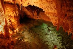Blue pool in Caverns of Sonora.