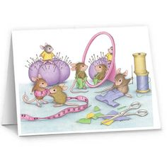 """""""8 Blank Cards/8 Envs"""", Stock #: N9602B, from House-Mouse Designs®. This item was recently purchased off from our web site. Click on the image to see more information."""
