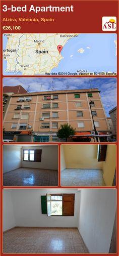 3-bed Apartment in Alzira, Valencia, Spain ►€26,100 #PropertyForSaleInSpain