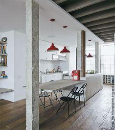 Decorando com Criatividade: Bancadas de concreto....Um charme...
