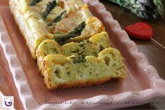 """Ricetta """" Plumcake salato agli asparagi e scamorza """" - ricetta tradizionale e ricetta Bimby-"""