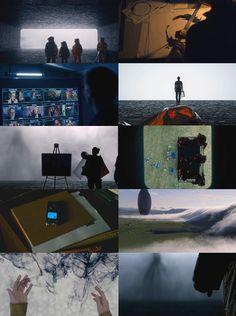 Arrival (2016)  directed by: Denis Villeneuve Cinematography: Bradford Young