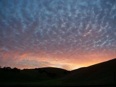 Re-pinned 4 times:   Sunset over Hollister, CA - April 2008