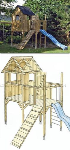 DIY Backyard Playhouse - Children's Outdoor Plans and Projects | WoodArchivist.com #backyardplayhouse