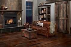 Rich hardwoods perfect for a cozy family room.