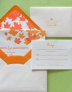 invites for Autumn