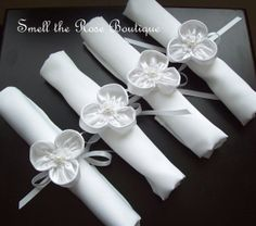 Wedding Flower Napkin Rings,Wedding Table Napkin Ties,Wedding Table Decor