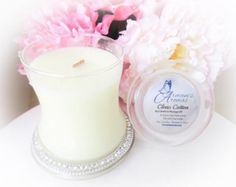 Natural hand-poured soy candles on Etsy