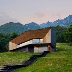 Corrugated copper villa by Camillo Botticini Architetto frames Alpine views | Dezeen | Bloglovin'