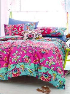 Accessorize Fable Folksy Duvet Cover and Pillowcase Set | littlewoods.com