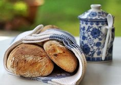 Rustic Garlic Loaves - World Bread Day