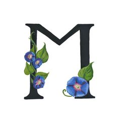 M is for Morning Glory - Etsy/Nonfictional