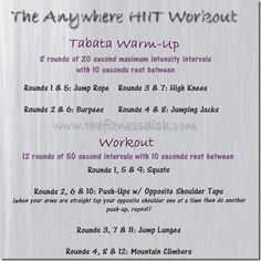 HIIT at home workout