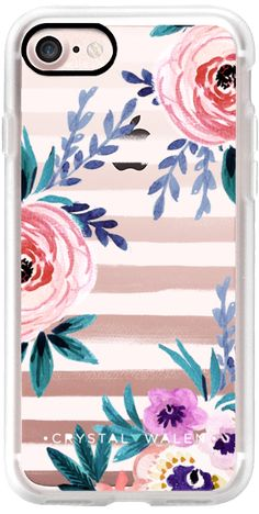 Casetify iPhone 7 Classic Grip Case - Victoria_Flower-soft-blushing-clear by Crystal Walen #Casetify