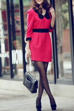OASAP - Color Block Butterfly Necklined Halterneck Dress - Street Fashion Store