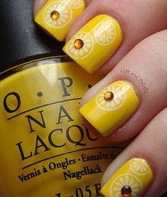 yellow nail art nail polish