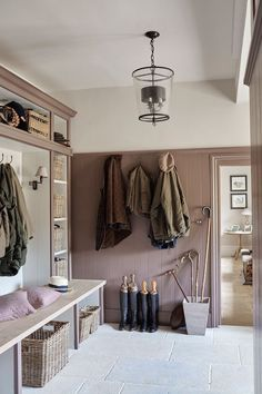 Lovely classic boot room in a Century Family Manor. Design by Sims Hilditch. Boot Room Utility, Estilo Country, Country Style, Country Life, Hallway Storage, Boot Room Storage, Cloakroom Storage, Shoe Storage, Garage Storage
