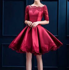 Cute Burgundy Sleeve Lace Homecoming Dresses 2017 in A Line Style Knee Length grade Graduation Gowns sweet 16 dresses Cocktail Bridesmaid Dresses, Short Bridesmaid Dresses, Short Dresses, Cocktail Dresses, Cheap Dresses, Sweet 16 Dresses, Casual Dresses, Formal Dresses, Formal Prom