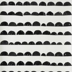 Ferm Living   Half Moon Wallpaper - Black & White