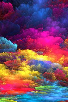 color, because there are various different types of colors and its showing the clouds of something creative.