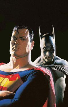 Alex Ross' Superman and Batman.