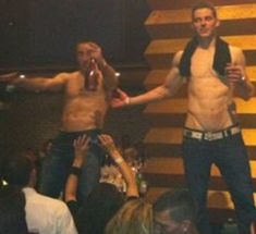 Tyler Seguin and Brad Marchand! yeah where was my invite.. cause i'd fly for that shit.